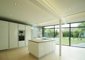 kitchen birch ply extension