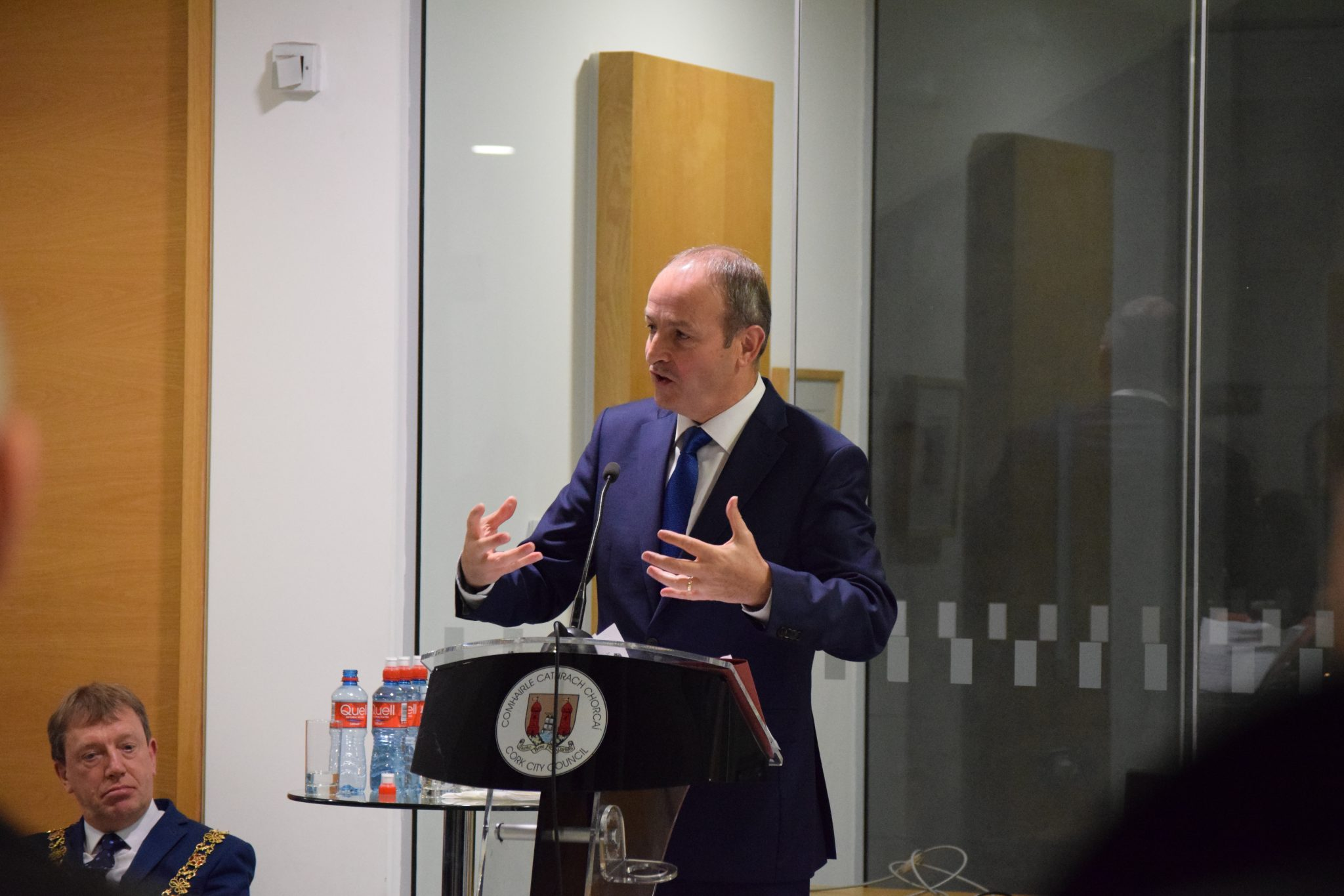 deputy micheal martin TD launches the CAA 2017 architecture exhibition